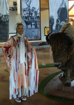 Cara Arkand in the Wanuskewin Heritage Park