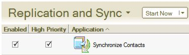 Enable option in Replication and Sync