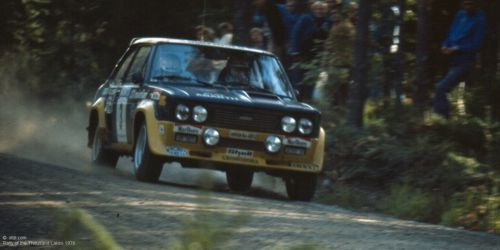 Fiat 131 No 3 Abarth on the track