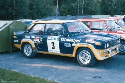 Fiat 131 Abarth No 3 parked