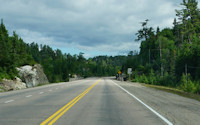 Ontario Trans Canada Highway in the North